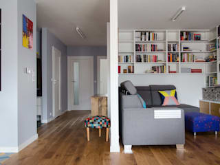between big cities Scandinavian style corridor, hallway& stairs by Studio Malina Scandinavian