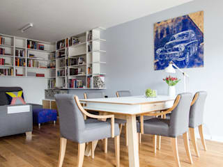 between big cities Scandinavian style dining room by Studio Malina Scandinavian