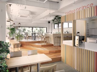 都心の中の公園: archi stat & associateが手掛けたオフィススペース&店です。