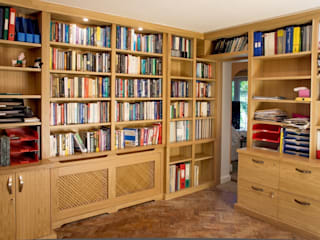 Traditional Bookcases in Study in Oak:   by Built in Solutions