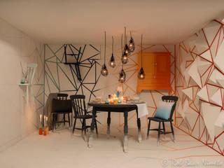 Minimalistyczny salon od Nimeto Utrecht Minimalistyczny