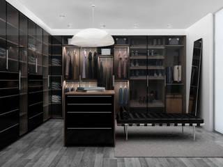 Zona Ella Vestidores de estilo moderno de Citlali Villarreal Interiorismo & Diseño Moderno