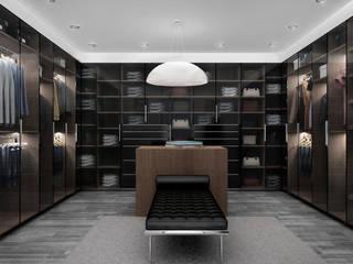 Zona comprtida: Vestidores y closets de estilo moderno por Citlali Villarreal Interiorismo & Diseño