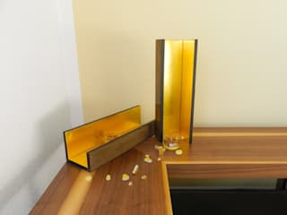 DESIGN straight marmorino 23 3/4 karat gold Golden Light Kunst Kunstobjekte