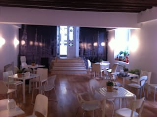 CAFFÉ MILANO. PALACIO ABRANTES. MADRID. 2011 En colaboración con PIERO RUSSI Bares y clubs de estilo minimalista de Bescos-Nicoletti Arquitectos Minimalista