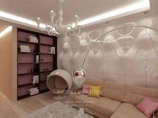 Salas de estilo minimalista de Студия дизайна интерьера Руслана и Марии Грин Minimalista