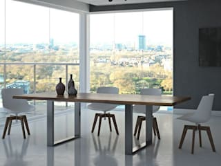 Drewniany stół w jadalni - Stello: styl , w kategorii Jadalnia zaprojektowany przez Le Pukka Concept Store