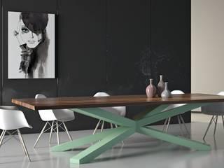 Drewniany stół w jadalni - Primal Wood: styl , w kategorii Jadalnia zaprojektowany przez Le Pukka Concept Store