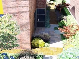 Ontwerp voor een cottage stijl tuin in een nieuw jasje. Moderne tuinen van Bladgoud-tuinen Modern