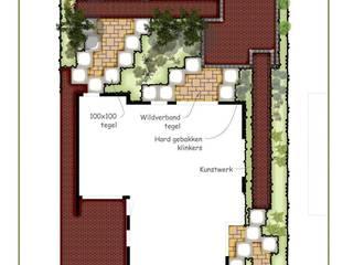 Ontwerp voor een cottage stijl tuin in een nieuw jasje. van Bladgoud-tuinen
