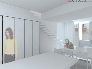 AR|001|14-BRK Urban Family House Salones de estilo moderno de 404NF-A Moderno
