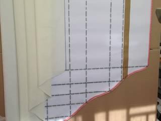 Réalisation d'un rideau doublé surmonté décor de fenêtre. par Emilie Dolliou, Tapissière-Décoratrice Classique