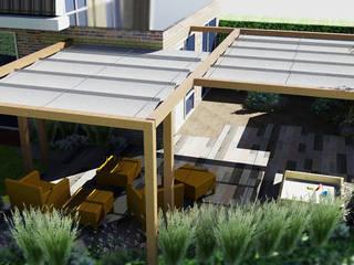 Kleine tuin bij hoekwoning, in moderne cottage stijl Moderne tuinen van Bladgoud-tuinen Modern