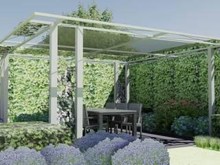 Schaduwlounge over het terras Industriële balkons, veranda's en terrassen van Bladgoud-tuinen Industrieel