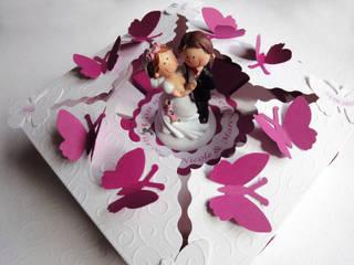 Papiertorte Mini pinki-weiß:   von Zauberhaft verschenken