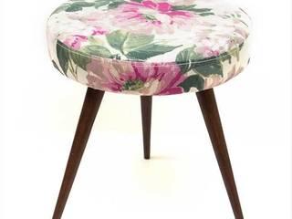 stołek | zielony kwiat od Magiel Rustykalny