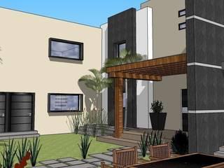 Casa 195 Jardines modernos de Taller R arquitectura Moderno