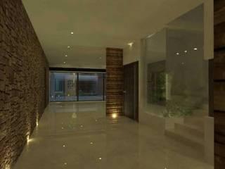 casa #495 Pasillos, vestíbulos y escaleras modernos de Taller R arquitectura Moderno