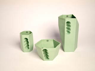 Want porcelain 2.0 groen (schenkkan, soepkom en mok):   door Studio Roel Beurskens