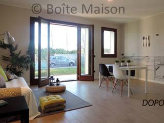 LIVING-ZONA PRANZO DOPO:  in stile  di Boite Maison