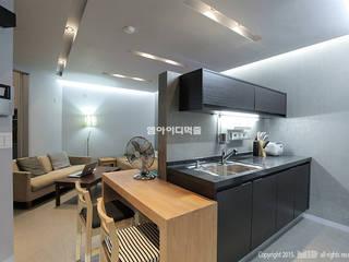영등포구 당산동 19평형 원룸형 아파트: MID 먹줄의  주방