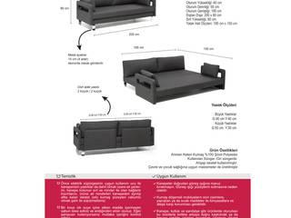 K105 Mobilya Pazarlama Danışmanlık San.İç ve Dış Tic.LTD.ŞTİ. – Marla Yataklı Kenepe (Marla Sofa Bed): modern tarz Oturma Odası