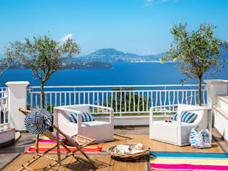 PDV studio di progettazione Balkon, Beranda & Teras Gaya Mediteran