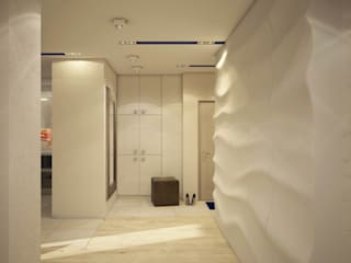 Corridor & hallway by tatarintsevadesign, Minimalist