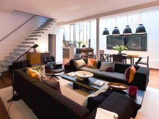 LA CUISINE DANS LE BAIN SK CONCEPT Industrial style living room