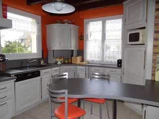 Relookage de cuisines et meubles par les cuisines de claudine Moderne