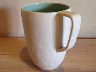 Mug porcelaine bleu turquoise:  de style  par TERRE & SONGES