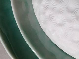 ensemble de coupelles - porcelaine bleu turquoise. par TERRE & SONGES Éclectique