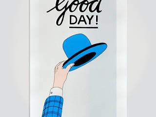 Good Day!:   door Lennart Wolfert - Graphic Artist, Minimalistisch