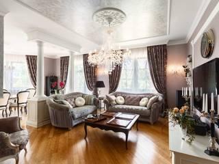 Дом в г.Калининграде Гостиная в классическом стиле от AGRAFFE design Классический