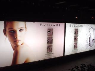ESCAPARATE BVLGARI OMNIA CRYSTALLINE EN EL CORTE INGLES RIART I ASSOCIATS Centros comerciales de estilo minimalista