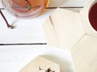 HEX - komplet dwóch podstawek: styl , w kategorii  zaprojektowany przez AnyTHING  Manufacture of Wood