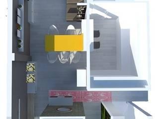 New Look_ salón-cocina-despacho 3en1! de Kiki Karam TuArquitectaPersonal Moderno