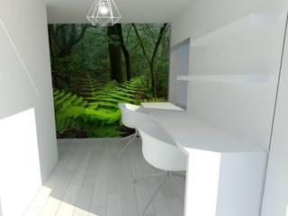New Look_ salón-cocina-despacho 3en1! Estudios y despachos de estilo moderno de Kiki Karam TuArquitectaPersonal Moderno