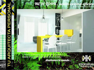 New Look_ salón-cocina-despacho 3en1! Salones de estilo moderno de Kiki Karam TuArquitectaPersonal Moderno