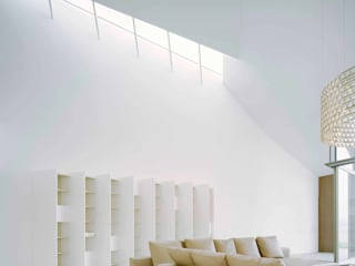MATRIX IN SPACE - House at Lake Constance Modern Living Room by ALUCOBOND - 3A Composites GmbH Modern