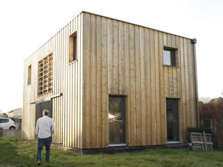 maison bioclimatique Maisons modernes par ATELIER ARTEFAKT Moderne