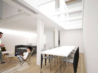 Maison L: Salle à manger de style  par Thibaudeau - Architecte