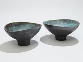 2 stoneware footed bowls:   by norman yap ceramics