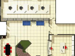 Pianta Progetto Uffici: Complessi per uffici in stile  di Studio Tecnico Giemme