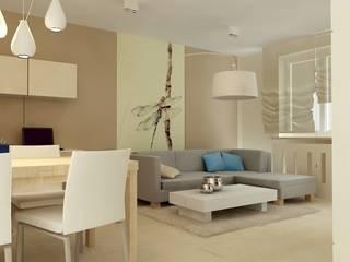 Studio architektoniczne Premiere Design Warszawa Salas de estar modernas