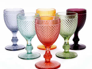http://www.jasmineway.co.uk/6-handmade-portuguese-diamond-pattern-wine-glasses:   by J & M Collections Ltd