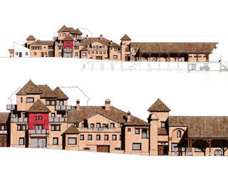 Alzados de fachada:  de estilo  de Estudio de arquitectura Jesús del Valle