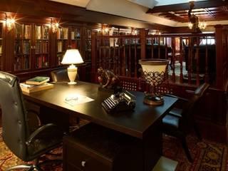 Частная библиотека: Рабочие кабинеты в . Автор – Архитектурно-дизайнерская студия 'Арт Диалог'
