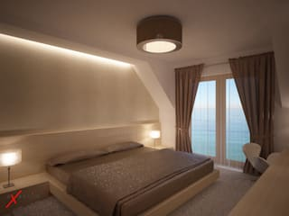 Dom jednorodzinny: styl , w kategorii Sypialnia zaprojektowany przez Axentim