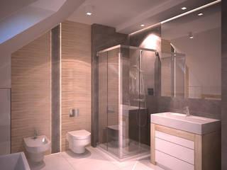 Dom jednorodzinny Nowoczesna łazienka od Axentim Nowoczesny